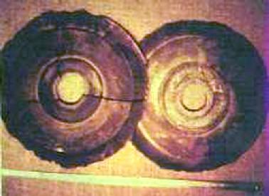 Fotografie disků, které údajně Ernst Wegerer pořídil v muzeu Bampo v Xianu.